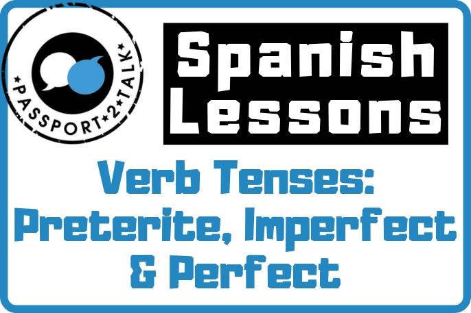 Verb Tenses Preterite, Imperfect & Perfect