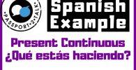 Que estas haciendo in Spanish