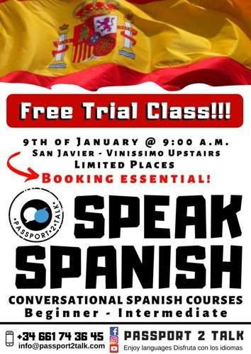 Free Spanish Lesson in San Javier